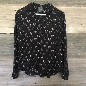 Anthropologie Tops - Maeve kitty cat printed button down sz 2